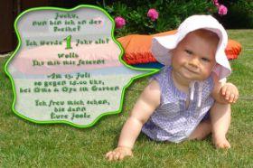 Einladung 1 Geburtstag   Freshideen, Einladungsentwurf